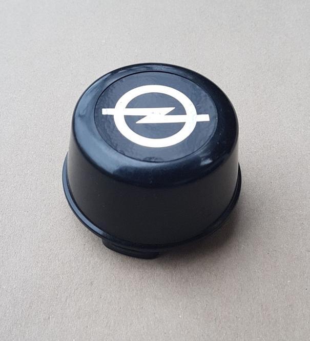 Nabenkappe für Ronal Felgen schwarz 70mm Nabenloch Opel-Emblem schwarzer Hintergrund
